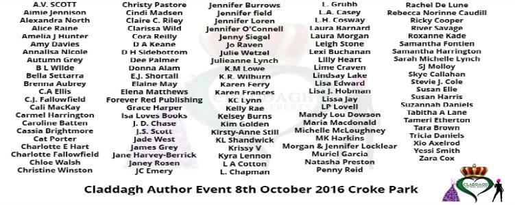 Claddagh Author Event Dublin 2016